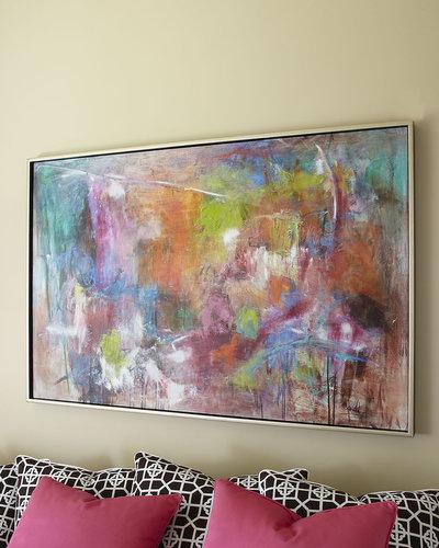 """John-Richard Collection John-Richard """"Seville"""" Abstract Painting"""