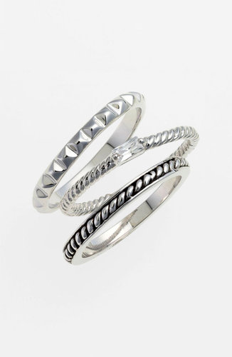 Ariella Collection Stackable Rings (Set of 3)