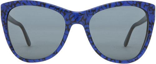 Stella McCartney Sunglasses in Leaf Print & Black