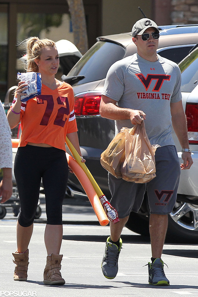 Britney Spears Shows Team Spirit While Shopping With David