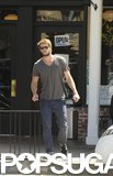 Liam Hemsworth left Sweetsalt restaurant in LA.