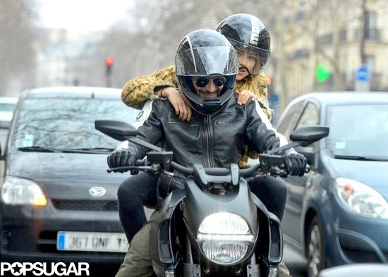 Bradley Cooper and Suki Waterhouse explored Paris via motorcycle.