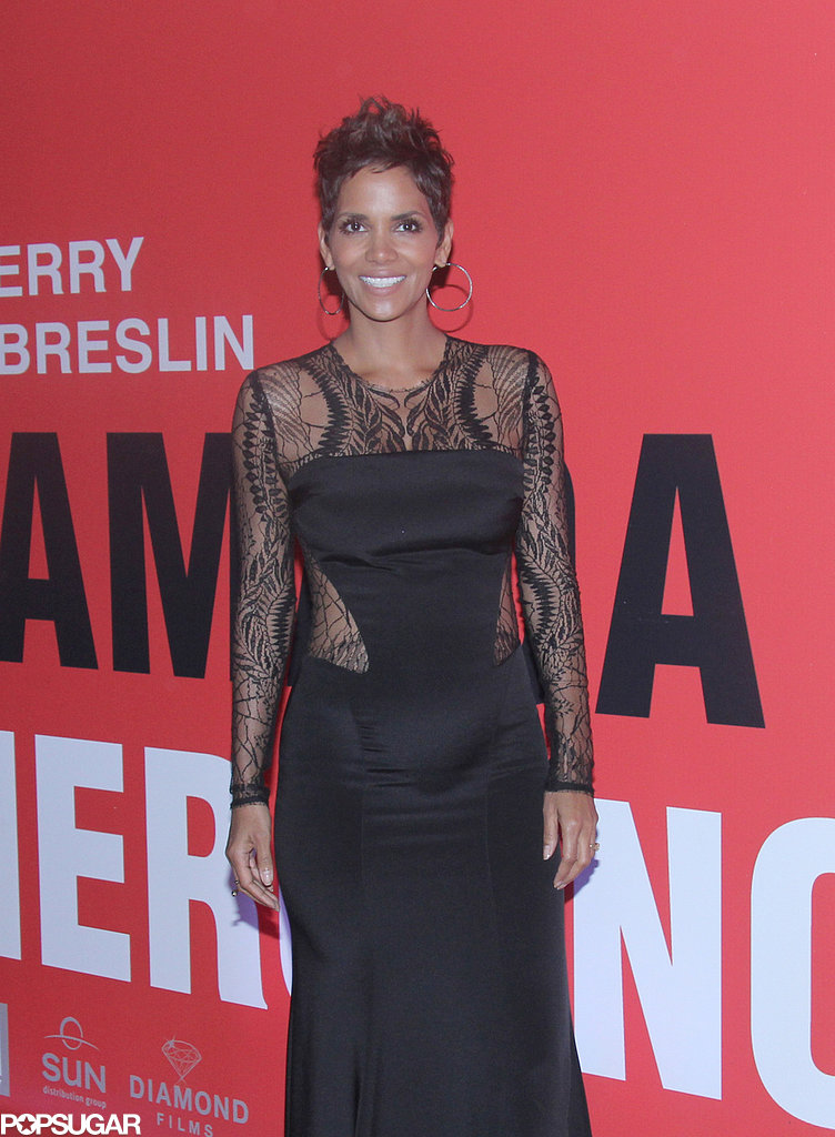 Halle Berry Bares Her Bump in a Revea