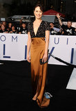 Olga Kurylenko flashed a smile at the Oblivion premiere in Hollywood.