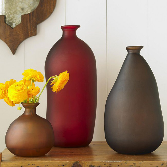 These recycled vases ($39) will give accent your home with an earthly yet contemporary touch.