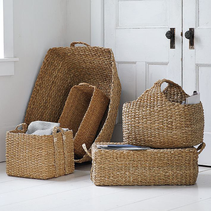 Ditch the plastic bins! Handwoven using natural bankuan grass, these baskets ($24) can be used for all your storage needs.