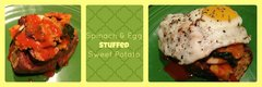 Spinach &amp; Egg Stuffed Sweet Potato