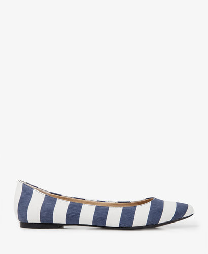 FOREVER 21 Striped Canvas Flats