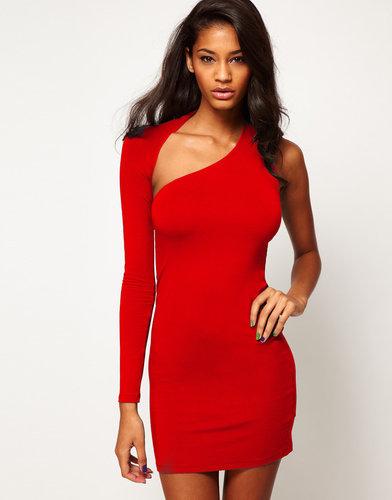 ASOS Mini Body-Conscious Dress With One Sleeve
