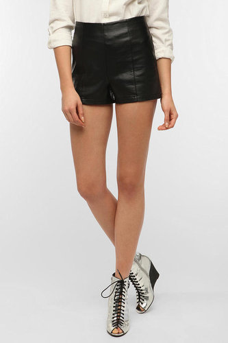 Sparkle & Fade High-Rise Faux Leather Pinup Short