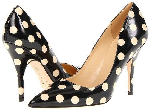 Kate Spade New York - Licorice (Black/Cream Dot Patent) - Footwear