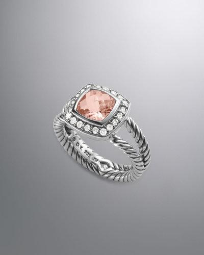 David Yurman Petite Albion Ring, Morganite, 7mm