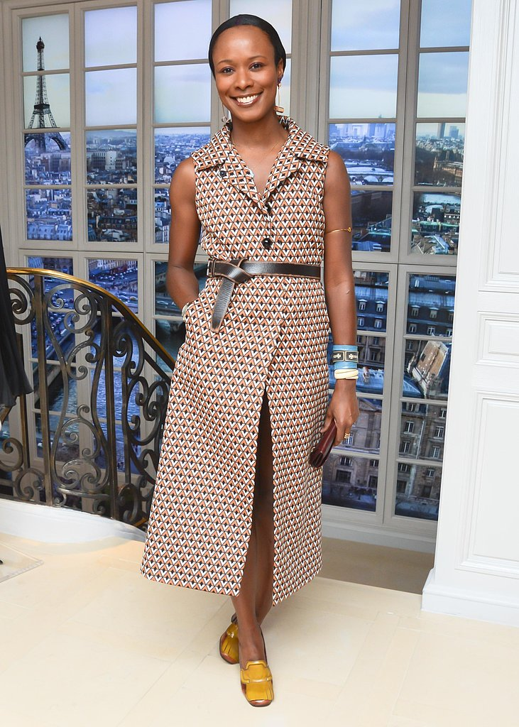 Shala Monroque at the Dior and Charlotte Sarkozy Spring cocktail party in New York. Photo: Joe Schildhorn/BFAnyc.com