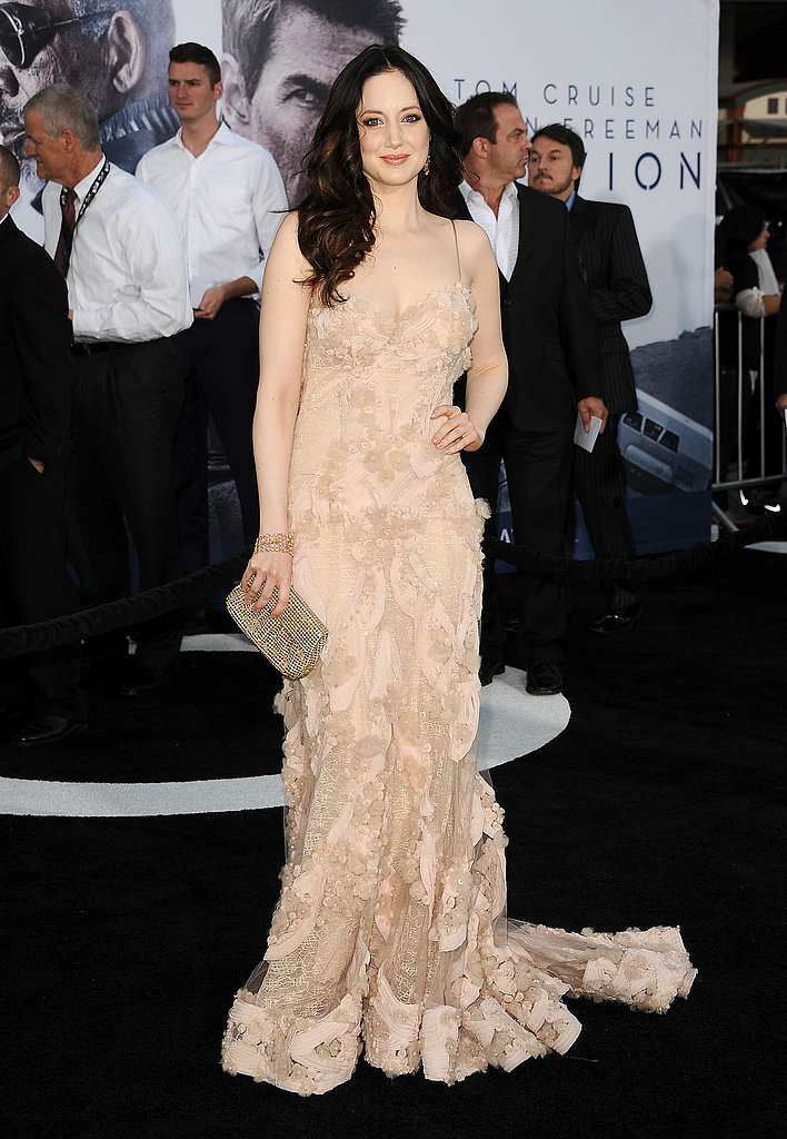 Andrea Riseborough wore Spring 2010 Elie Saab Couture at the Oblivion premiere in Hollywood.
