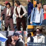 Jennifer Lawrence, Christian Bale, Katie Holmes, and More Stars on Set