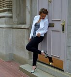 the perfect white blazer