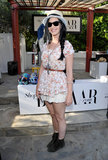 Katy Perry stopped for a photo at BAZAAR's Coachella party.