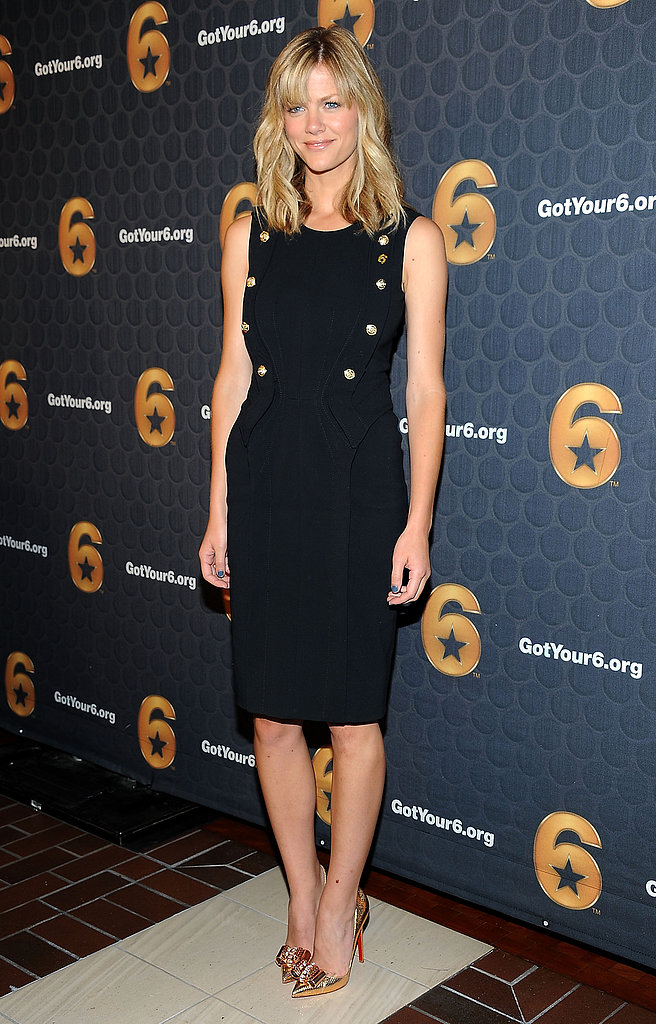 The actress took a more sophisticated approach in a fitted black sheath for an LA press conference in May 2012.