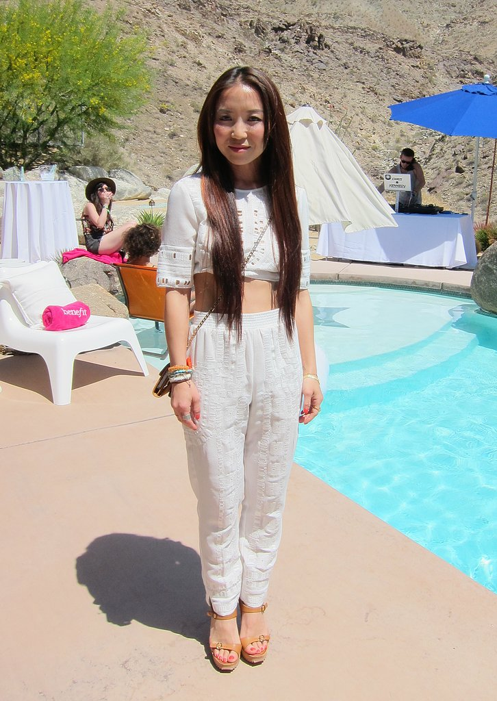 We love this airy crop top and trouser combo by BCBG Max Azria. Source: Chi Diem Chau