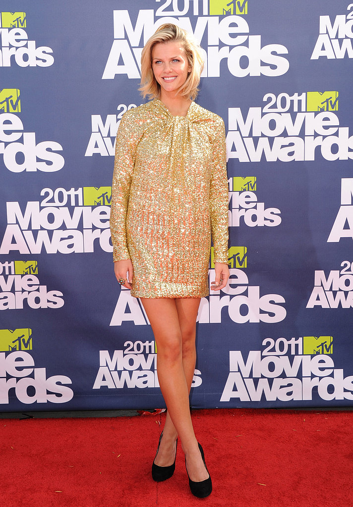 Brooklyn had legs for days in a gilded No. 21 mini at the 2011 MTV Movie Awards.