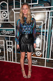 For the Shops at Target launch party in 2012, Brooklyn channeled downtown-cool in a leather skirt and printed blouse.