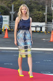 Brooklyn Decker in Peter Pilotto Pencil Skirt at 2012 Battleship Press Conference in Japan