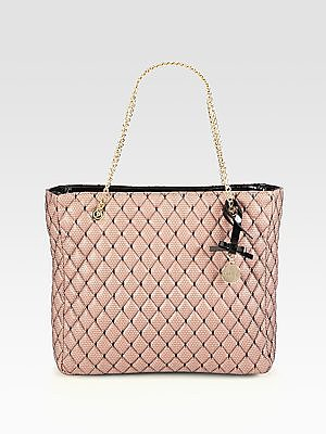 RED Valentino Quilted Point D'Esprit Tote