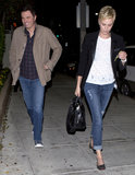Charlize Theron and Seth McFarlane kept a low-profile as they left a Beverly Hills restaurant on April 8.