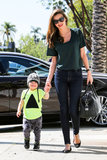 Miranda Kerr and son Flynn looked adorable together as they hit the streets of LA on April 11.