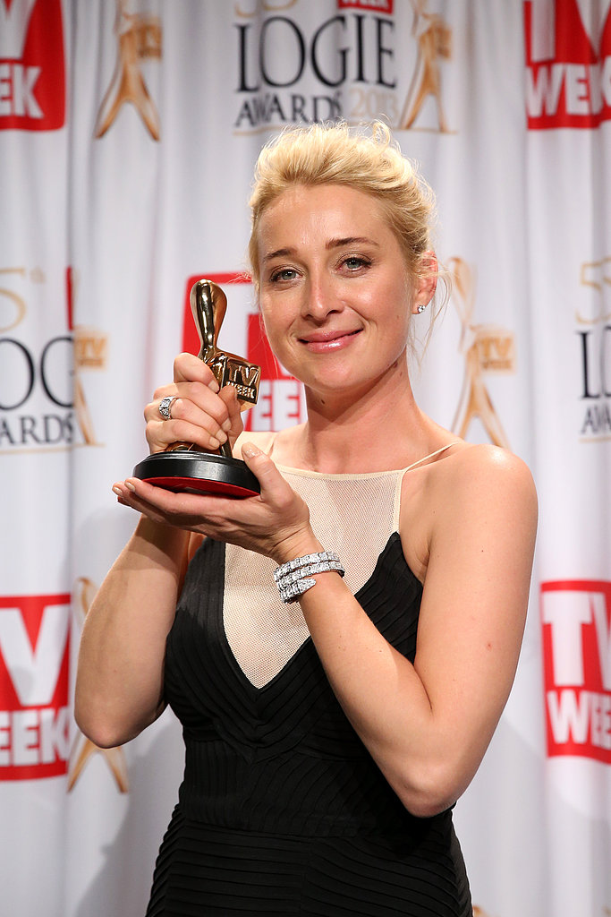 Asher Keddie was the golden girl of the night at the Logies on April 7 — she won Most Popular Actress and the esteemed Gold Logie at the Crown Palladium in Melbourne.