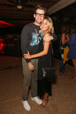 Brad Goreski and his friend Hannah Soboroff got together at the Diesel + Edun bash.