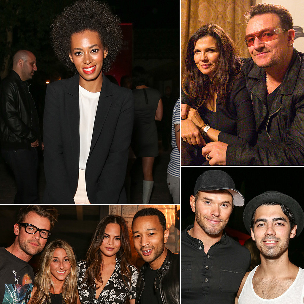 Solange Knowles, Bono, and John Legend Keep the Music Coming at Studio Africa's Coachella Bash