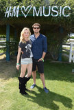 Diane Kruger and Joshua Jackson posed for a snap.