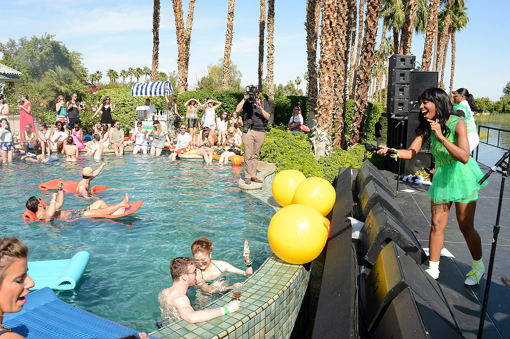 Santigold performed for guests at the poolside bash.