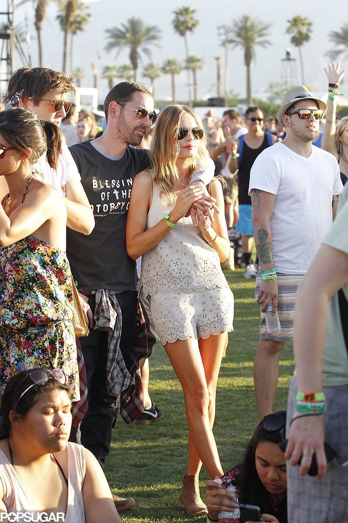 Kate Bosworth and Michael Polish Keep Close at Coachella