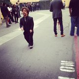 Game of Thrones star Peter Dinklage got caught behind the scenes at the MTV Movie Awards. Source: Instagram user mtv