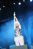 Karen O from the Yeah Yeah Yeahs put on a playful show.