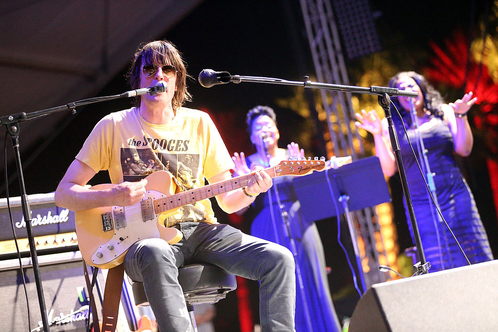 Spiritualized member Jason Pierce got the help of some singers during Saturday's performance.