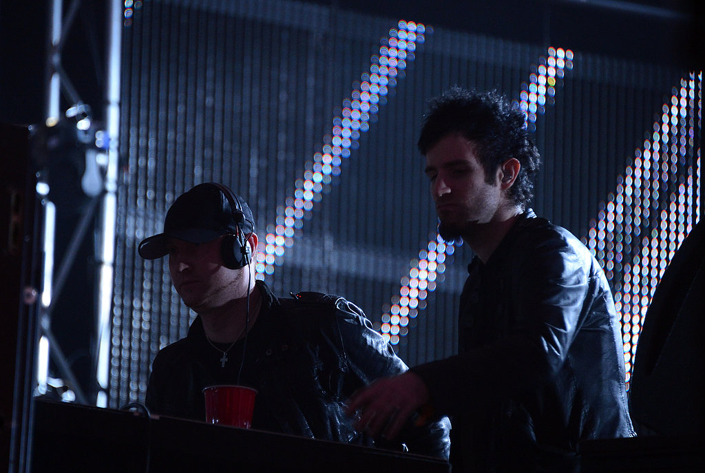Rob Swire and Gareth McGrillen of Knife Party brought some electro house tunes to the festival with their Saturday night performance.
