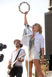 Metric's Emily Haines performed with tambourine in hand.