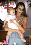 Before heading out to Coachella, Alessandra Ambrosio celebrated her birthday over lunch with her family in LA on Friday.