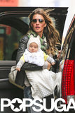 Gisele Bündchen and Vivian Brady jetted out of NYC together in April 2013.