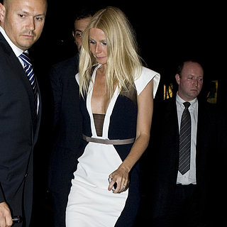 Gwyneth Paltrow Wearing Black and White in Paris