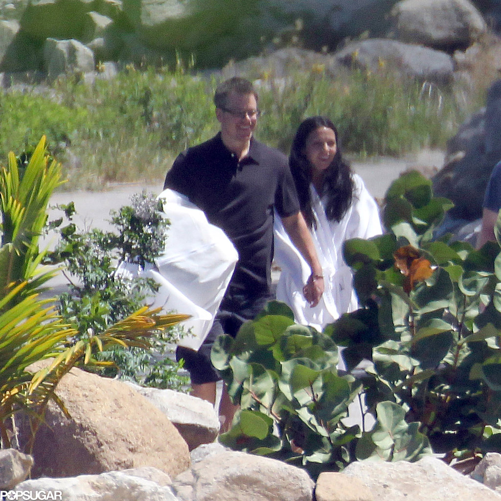 Matt and Luciana Damon Show PDA After Their Big Day