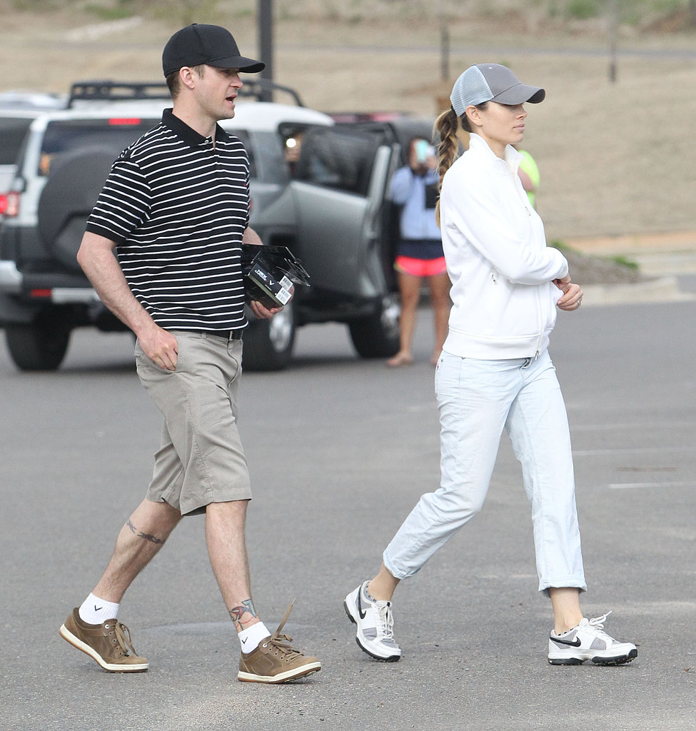 Justin Timberlake and Jessica Biel Hit the Links Together