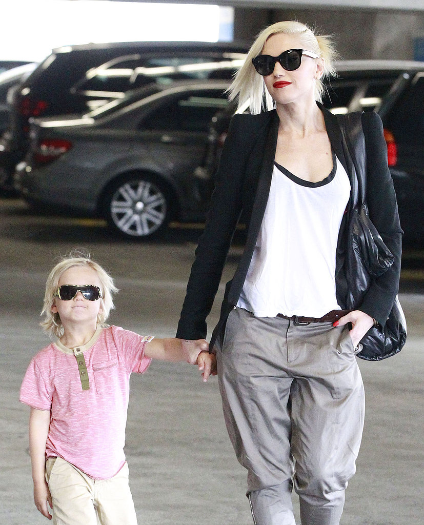 Gwen Stefani and her son Zuma rocked matching sunglasses while running errands in LA on Friday.