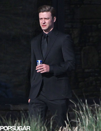Justin Timberlake held onto a Bud Light.
