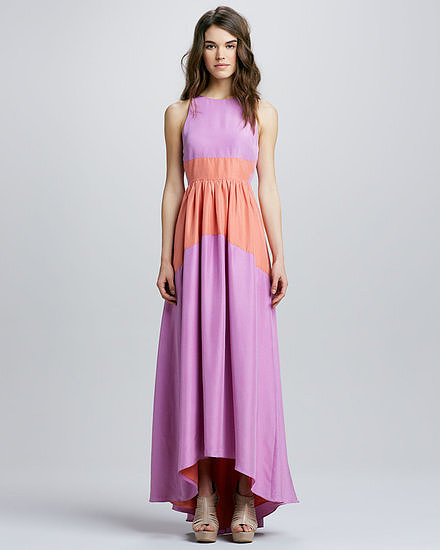 Not only is this Tibi two-toned silk maxi dress ($675) all-occasion appropriate, the colorblocking also creates an incredibly flattering silhouette.