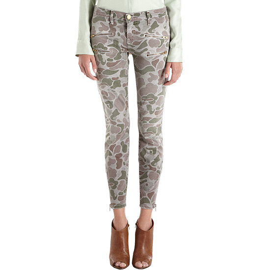 If you're going to invest in any printed jeans right now, it should be these Current/Elliott multizip camo jeans ($99, originally $248) — they're totally on-trend and so damn cool. We especially love them with a silky white blouse.