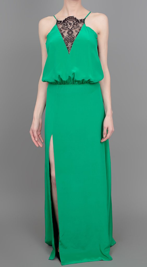 With a lace inset at the neckline and a rich emerald green hue, it's not hard to see how this Mason by Michelle Mason lace maxi dress ($795) would make a gorgeous evening wedding option.
